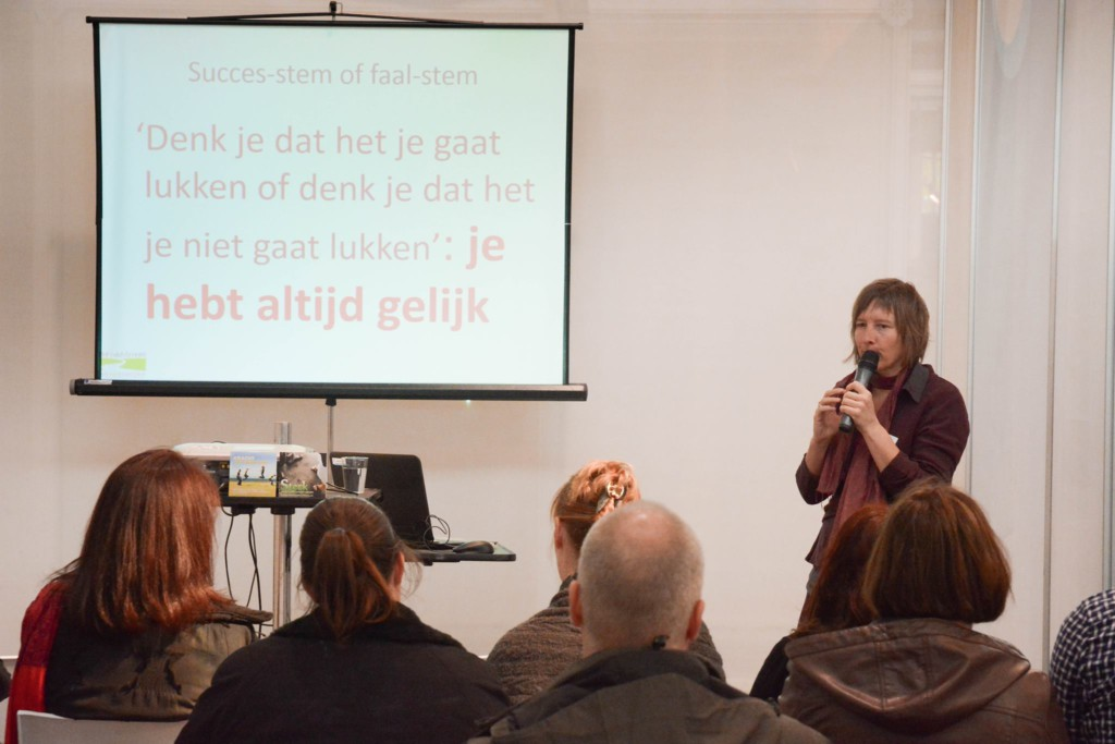 Inge Ketels tijdens workshop