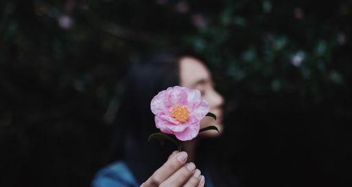 foto van vrouw met bloem bij artikel bureau stroom Vraag je je af hoe je ook met een kwetsbaar gevoel vooruit kan als ondernemer