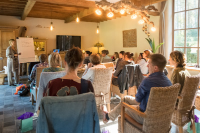 deelnemers van be brilliant event met Inge Ketels van Bureau Stroom voor artikel verdubbeling van omzet