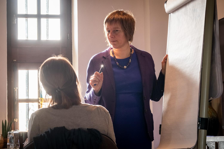 Inge Ketels tijdens Stroomversneller Event voor artikel veerkrachtige mindset
