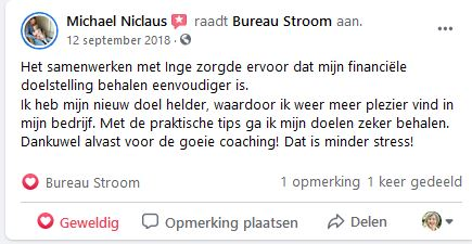 Michael Niclaus over Stroomversneller